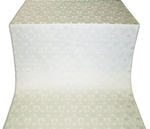 Dove metallic brocade (white/silver)