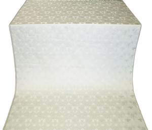 Dove metallic brocade (white/silver)