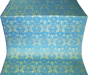 Greek Chalice metallic brocade (blue/gold)