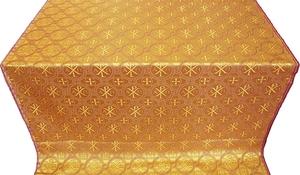 Greek Alpha-and-Omega metallic brocade (yellow/gold)