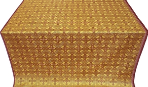 Big Cross metallic brocade (yellow/gold)