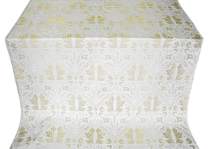 Repida metallic brocade (white/silver)