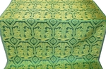 Trinity metallic brocade (green/gold)