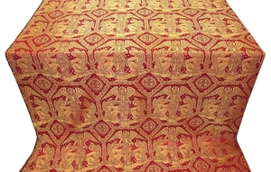 Trinity metallic brocade (red/gold)