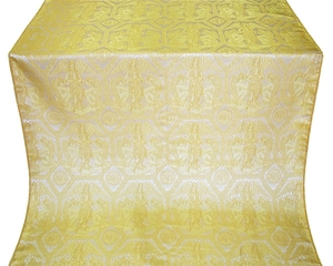 Trinity metallic brocade (white/gold)