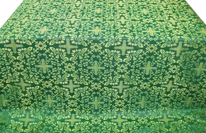 Lemnos metallic brocade (green/gold)