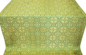 Miletus metallic brocade (green/gold)