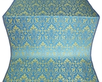 Macedonian metallic brocade (blue/gold)