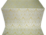 Macedonian metallic brocade (white/gold)