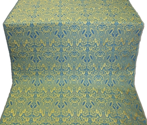 Morozko metallic brocade (blue/gold)