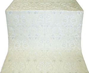 Myrsine metallic brocade (white/silver)