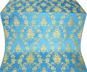 Czar's Bouquet metallic brocade (blue/gold)