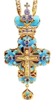 Clergy jewelry pectoral cross no.13 (light-blue)