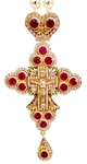 Clergy jewelry pectoral cross no.32 (red stones)
