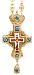 Clergy jewelry pectoral cross no.35 (blue stones)