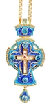 Clergy jewelry pectoral cross no.38 (blue enamel)