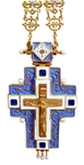 Clergy jewelry pectoral cross no.47 (blue enamel)
