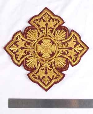 "Hand-embroidered cross D145 - 6.7"" (17 cm)"