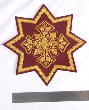 "Hand-embroidered star D145 - 6.7"" (17 cm)"
