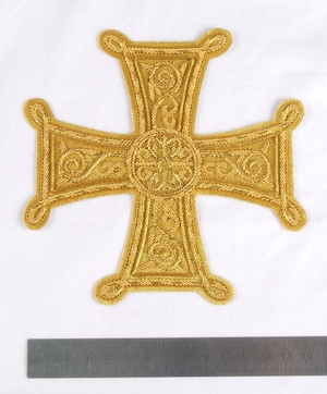 "Hand-embroidered cross D120 - 5.5"" (14 cm)"