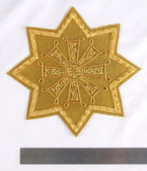 "Hand-embroidered star D120 - 6.7"" (17 cm)"