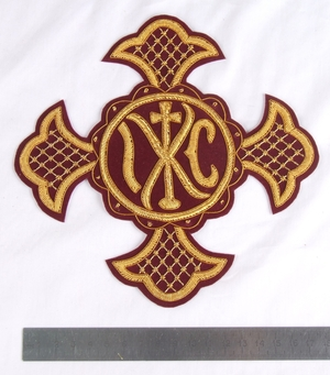 "Hand-embroidered cross D318 - 6.7"" (17 cm)"