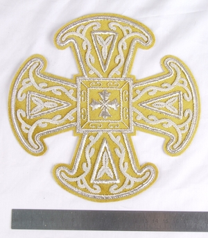 "Hand-embroidered cross D153 - 6.7"" (17 cm)"