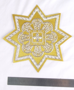 "Hand-embroidered star D153 - 6.7"" (17 cm)"