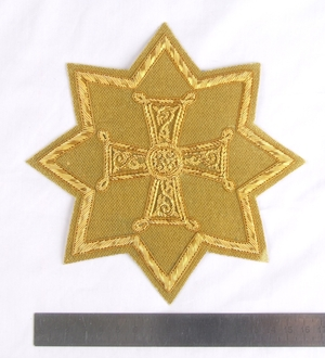 "Hand-embroidered star D128 - 6.7"" (17 cm)"
