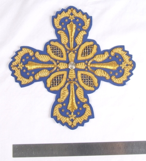 "Hand-embroidered cross D184 - 7.9"" (20 cm)"