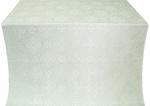 Vilno silk (rayon brocade) (white/silver)