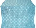Stone Flower silk (rayon brocade) (blue/silver)