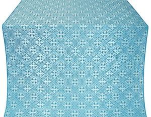 Stone Flower silk (rayon brocade) (blue/silver)