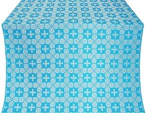 Czar's silk (rayon brocade) (blue/silver)