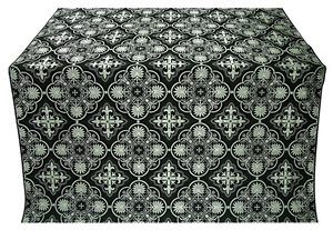 Pskov metallic brocade (black/silver)