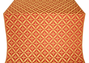 Polistavrion metallic brocade (red/gold)