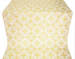 Pskov metallic brocade (white/gold)