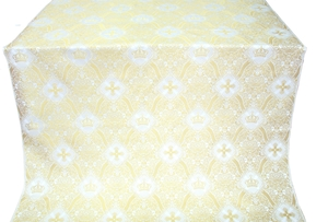 Kingdom metallic brocade (white/gold)
