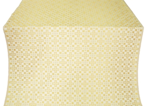 Verona metallic brocade (white/gold)