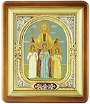 Religious icons: Holy Martyrs Vera, Nadejda, Lyubov and their mother Sophia