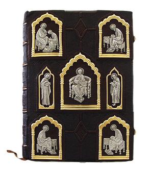 Orthodox service Gospel book in jewelry cover no.26