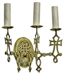 Сhurch wall lamp - 401-1 Byzantine (for 3 lights)
