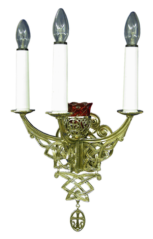 Church wall lamp - 405-2 (for 3 lights)
