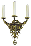 Church wall lamp - 406-2 (for 3 lights)