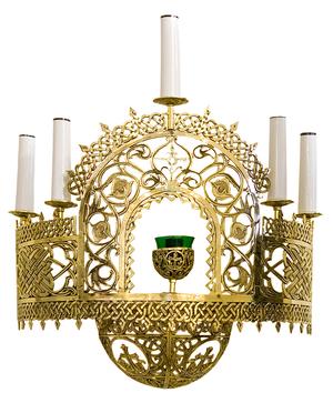 Church wall lamp - 432-1 (half PAK-107) (5 lights + lamp)