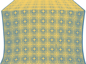 Shouya silk (rayon brocade) (blue/gold)