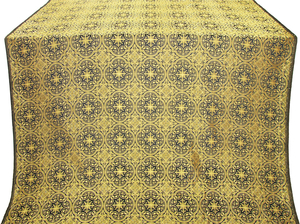 Shouya silk (rayon brocade) (black/gold)