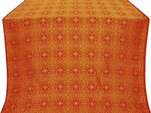 Shouya silk (rayon brocade) (red/gold)