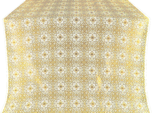 Shouya silk (rayon brocade) (white/gold)