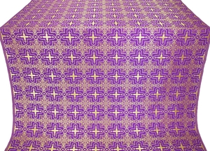 Custodian metallic brocade (violet/gold)